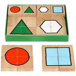 Puzzle geometric shapes